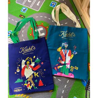 キールズ(Kiehl's)のキールズ  クリスマス ホリデイ トートバッグ 未使用2点セット(トートバッグ)