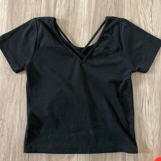アナップ(ANAP)のANAP 2wayミニ丈クロスTシャツ(Tシャツ(半袖/袖なし))