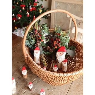 ちょこっと飾れるクリスマススワッグ。クリスマス。冬支度。ドライフラワースワッグ(ドライフラワー)