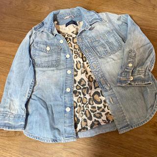 ギャップ(GAP)のGAP デニムシャツ 100cm MARKEY'S 柄Tシャツ 110cm(ブラウス)