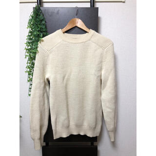 グリーンレーベルリラクシング(green label relaxing)のニット セーター オフホワイト Sサイズ(ニット/セーター)