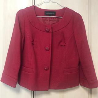 ジルスチュアート(JILLSTUART)のジルスチュアートの赤のジャケット(ノーカラージャケット)