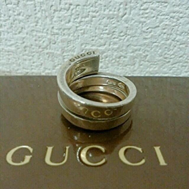 Gucci(グッチ)のGUCCI 14号シルバースネークリング メンズのアクセサリー(リング(指輪))の商品写真