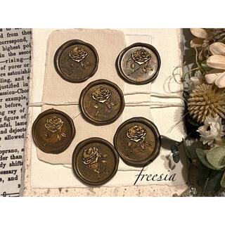封蝋*antique rose*シーリングスタンプ*ダーク系ブロンズマーブル6枚(カード/レター/ラッピング)