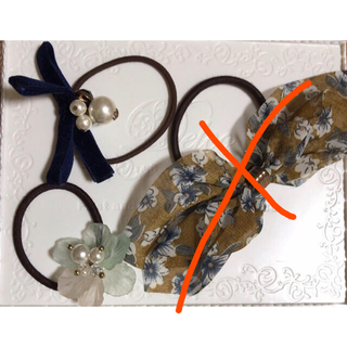 ロペピクニック(Rope' Picnic)のヘアゴム リボン お花(ヘアゴム/シュシュ)