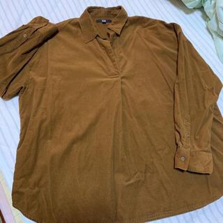 ユニクロ(UNIQLO)のUNIQLOコーデュロイスキッパーシャツ(シャツ/ブラウス(長袖/七分))