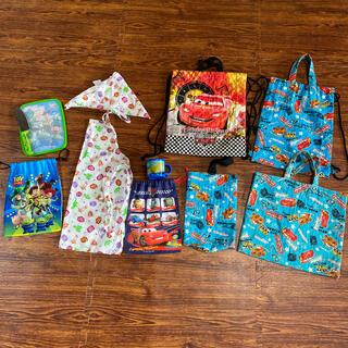 ディズニー(Disney)のカーズ トイストーリー 入園 入学 ナップサック てさげバック コップ エプロン(通園バッグ)