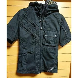 アヴィレックス(AVIREX)のAVIREX PDW半袖フードシャツ(ミリタリージャケット)