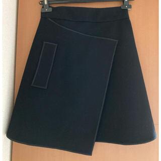 カルヴェン(CARVEN)のcarven ラップスカート風 スカート(ひざ丈スカート)