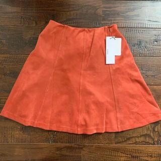 ムルーア(MURUA)の新品未使用 murua フェイクレザー ミニスカート オレンジ(ミニスカート)