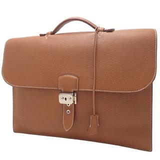 エルメス(Hermes)のエルメス バッグ サック・ア・デペッシュ38 ブラウン茶 40800060309(ビジネスバッグ)