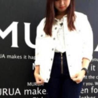 ムルーア(MURUA)の新品未使用 ホワイトオーバーサイズデニムGジャン*MURUA(Gジャン/デニムジャケット)