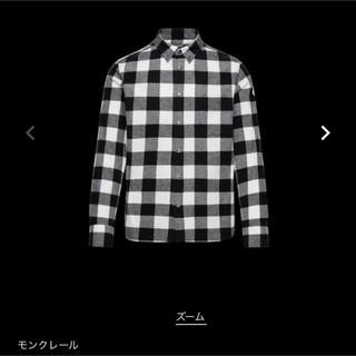 モンクレール(MONCLER)の新品タグ付 モンクレール シャツ 長袖 BLACK(シャツ)