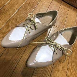 グローブ(grove)の未使用☆groveバイカラー木製太ヒールレザーローファーシューズ(ローファー/革靴)