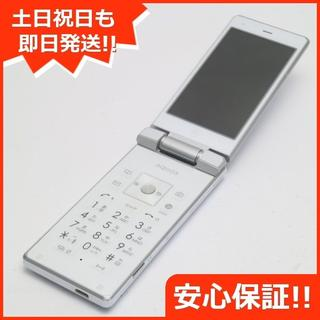シャープ(SHARP)の美品 au SHF32 AQUOS K クリアホワイト (携帯電話本体)