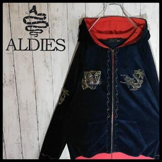 aldies - 【アールディーズ】【タイガー&ドラゴン】【刺繍デザイン】【フルジップパーカー】