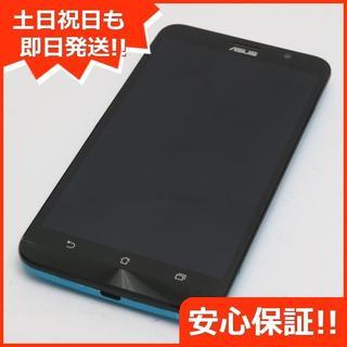 エイスース(ASUS)の美品 SIMフリー ZenFone Go ZB551KL ブルー (スマートフォン本体)