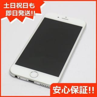 アイフォーン(iPhone)の美品 DoCoMo iPhone6 64GB シルバー 白ロム(スマートフォン本体)