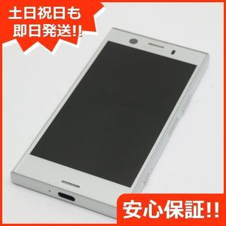 エクスペリア(Xperia)の美品 SO-02K シルバー 本体 白ロム (スマートフォン本体)
