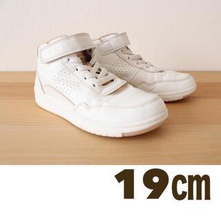 エイチアンドエム(H&M)のハイカットシューズ 19  キッズシューズ 白 チアダンス(スニーカー)