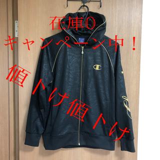 チャンピオン(Champion)の33 【美品】champion ジャージ 黒 刺繍入り(ウェア)