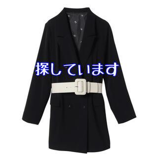 エイミーイストワール(eimy istoire)のエコレザーベルトセットロングジャケット(テーラードジャケット)