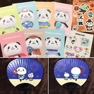 ラクテン(Rakuten)のお買いものパンダ 非売品 カード うちわ ステッカー 楽天(キャラクターグッズ)
