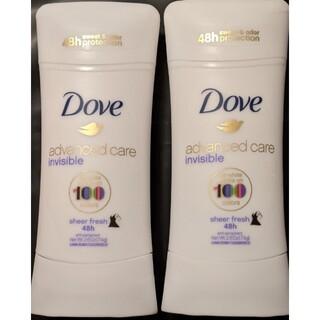 ユニリーバ(Unilever)のダヴDove デオドラント アドバンスドケア インヴィジブル シアーフレッシュ(制汗/デオドラント剤)