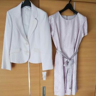 ニッセン(ニッセン)のジャケット ワンピース 19号 大きいサイズ(スーツ)