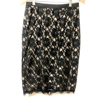 ビーシービージーマックスアズリア(BCBGMAXAZRIA)のBCBGレーススカート(ひざ丈スカート)