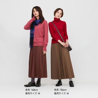 ユニクロ(UNIQLO)のユニクロ アコーディオンプリーツロングスカートLサイズ(ロングスカート)