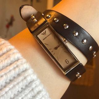 エンポリオアルマーニ(Emporio Armani)のエンポリオアルマーニ腕時計 レディース 極美品 稼働中      日本未発売(腕時計)