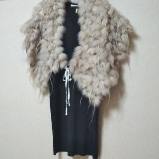 ストロベリーフィールズ(STRAWBERRY-FIELDS)のブルーフォックス 毛皮 strawberryfields 結婚式 ドレス(毛皮/ファーコート)