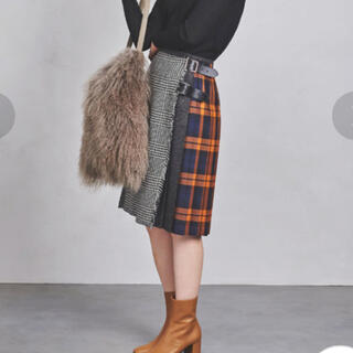 オニール(O'NEILL)の【別注新品】O'NEIL of DUBLIN パッチワークキルトスカート 8(ひざ丈スカート)
