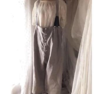 ネストローブ(nest Robe)の人気作家さま  &decor リネンファーマーパンツ(サロペット/オーバーオール)