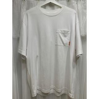 アクネ(ACNE)のacne studios オーバーサイズ ポケットTシャツ ロゴ 白T(Tシャツ/カットソー(半袖/袖なし))