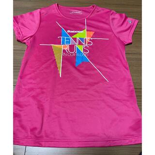バボラ(Babolat)のバボラ プラクティスTシャツ ピンク サイズL(ウェア)