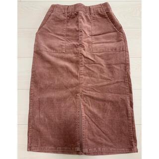 ヘザー(heather)のコーデュロイIラインスカート(ひざ丈スカート)