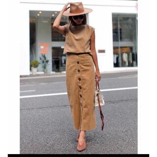 ルームサンマルロクコンテンポラリー(room306 CONTEMPORARY)のroom306 contemporary スカート キャメル(ロングスカート)