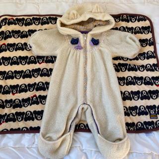 アナスイミニ(ANNA SUI mini)のアナスイミニ  ねこ カバーオール ジャンプスーツ  ロンパース50 60 70(ジャケット/コート)