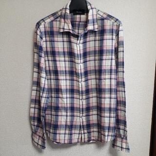 トゥモローランド(TOMORROWLAND)のBLUE WORK ブルーワーク リネン混 チェック シャツ(シャツ)