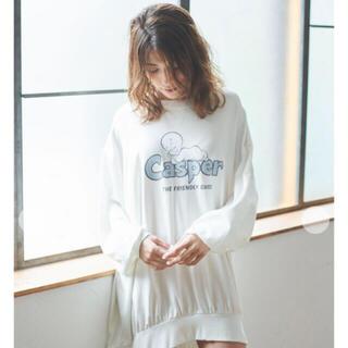ジェラートピケ(gelato pique)の【CASPER】ワンポイントBIGスリーブドレス(ルームウェア)
