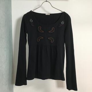 ミュウミュウ(miumiu)のmiumiu ミュウミュウ カットソー(Tシャツ(長袖/七分))