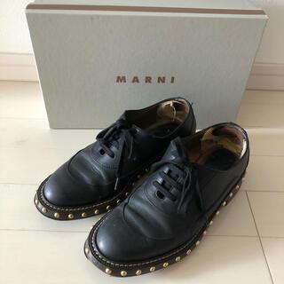 マルニ(Marni)のMARNI マルニ スタッズ付き革靴 レザーシューズ 定価89,250円(ローファー/革靴)