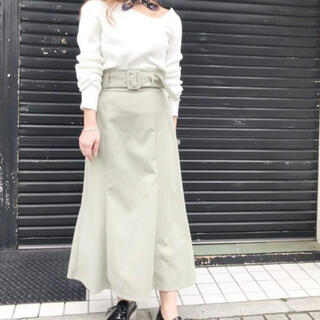 アンレリッシュ(UNRELISH)の【美品】裾フレア太ベルトタイトスカート(ロングスカート)