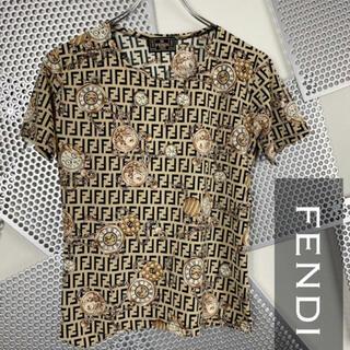 フェンディ(FENDI)のFENDI フェンディTシャツ カットソー ズッカ柄 時計 激レア ユニセックス(Tシャツ(半袖/袖なし))