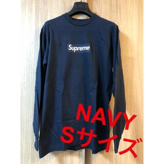 シュプリーム(Supreme)のSupreme Box Logo L/S Tee navy s シュプリーム(Tシャツ/カットソー(七分/長袖))