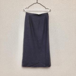 ロキエ(Lochie)のロングスカート 秋冬素材 濃いグレー(ロングスカート)