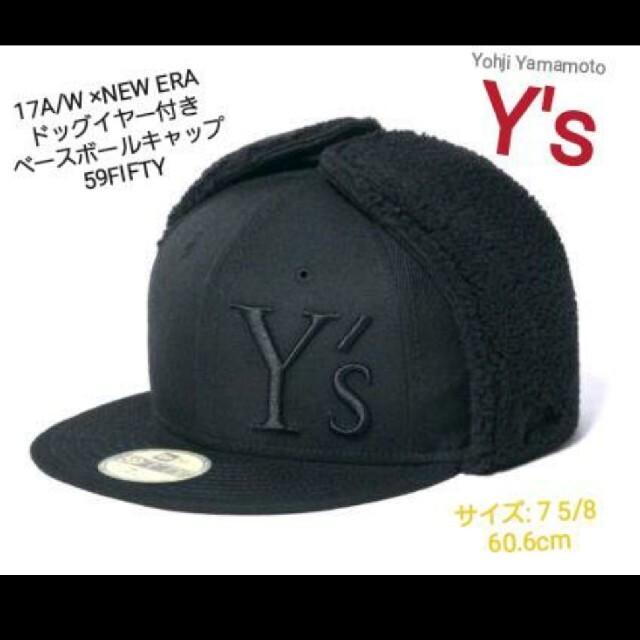 Yohji Yamamoto(ヨウジヤマモト)の【値下げ】NEW ERA × Y's ドッグイヤー付き キャップ 59FIFTY メンズの帽子(キャップ)の商品写真