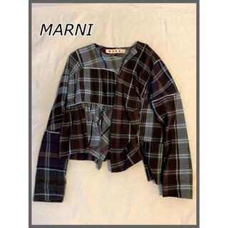 マルニ(Marni)の年末年始特価✳️コレクター必見✳️MARNI マルニ WOOL JACKET(ノーカラージャケット)